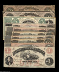 Confederate Notes:Group Lots, Ten Advertising Notes including Waterbury, CT- Minor & BradleyAd Note - Host Note Facsimile Confederate T33 $5 1861 ... (10notes)