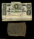 Confederate Notes:Group Lots, Leather Wallet and Contents. This lot consists of a Civil Warperiod leather wallet that has ten T67s in XF, six T66s i... (21notes)