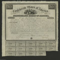 Confederate Notes:Group Lots, Ball 1 Cr. 5 $50 1861 Bond Very Fine. The earliest of bonds wereissued from Richmond. Fourteen $2 coupons remain on this bo...