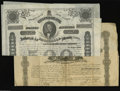 Confederate Notes:Group Lots, Two Confederate Bonds. Ball 101 Cr. 94 $1000 1861 Bond VF, waterstained Ball 191 Cr. 124A $500 1863 Bond VF, small intern... (2items)