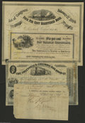 Confederate Notes:Group Lots, Two Plus Confederate Bonds. Ball 286 Cr. 141 $100 1864 Bond XF,aging Ball 366 Cr. 154 $1000 1864 Bond XF, aging, light ye... (4items)