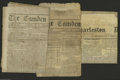 Confederate Notes:Group Lots, Three Confederate Newspapers. Found in this lot is a copy of TheCharlestown Daily dated September 27, 1861, and two cop... (3items)