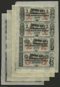 Obsoletes By State:Connecticut, New Haven, CT Sheets. City Bank of New Haven $1-$1-$2-$3 18__ G12c-G12c-G24c-G36c X4 Uncut Sheet AU City Bank of New Have... (4 sheets)