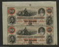 Obsoletes By State:Kentucky, Frankfort, KY- Farmers Bank of Kentucky $10-$10 Oct. 3, 1860 G224a-G224a Partial Uncut Sheet This is a gorgeous ABNCo red a...