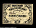 Obsoletes By State:Louisiana, New Orleans, LA- Howard Association 50¢ A lovely example of this very scarce American Bank Note Co.product, which displays ...
