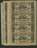 Obsoletes By State:Louisiana, Canal Bank Sheet Group One. New Orleans, LA- Canal Bank $5-$5-$5-$5 18__ G12a-G12a-G12a-G12a AU Uncut Sheet New Orleans, L... (4 sheets)