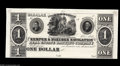 Obsoletes By State:Mississippi, Wahalak, MS- Kemper & Noxubee Navigation and Real Estate Banking Company $1 18__ G2 Kraus 14980p Leggett 4 Proof This rare ...