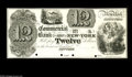 Obsoletes By State:New York, New York, NY- Commercial Bank $12 18__ G14 Proof This is another rare opportunity with this $12 proof on India paper. It l...