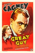 "Movie Posters:Crime, Great Guy (Grand National, 1936). One Sheet (27"" X 41"") Stone LithoStyle.. ..."