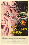 "Movie Posters:Science Fiction, Not of This Earth (Allied Artists, 1957). Autographed One Sheet(27"" X 41"").. ..."
