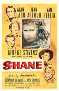 "Movie Posters:Western, Shane (Paramount, 1953). One Sheet (27"" X 41"") Ercole BriniArtwork. Western.. ..."