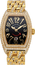 Estate Jewelry:Watches, Franck Muller Lady's Diamond, Gold Conquistador Master of Complications Watch. ...