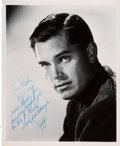 Movie/TV Memorabilia:Autographs and Signed Items, A Jeffrey Hunter Signed Black and White Photograph, 1960....