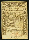 Colonial Notes:Rhode Island, Rhode Island May 1786 6s Very Fine.. ...