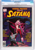Magazines:Horror, Marvel Preview #7 Satana (Marvel, 1976) CGC VF+ 8.5 Off-white to white pages....