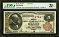 National Bank Notes:Maine, Bath, ME - $5 1882 Brown Back Fr. 466 The First NB Ch. # 2743. ...