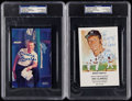 """Autographs:Post Cards, Mickey Mantle Signed 4"""" x 6"""" Postcard Lot of 2, PSA/DNA Authentic.. ..."""