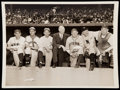 Baseball Collectibles:Photos, 1943 All-Star War Bond Game Type I Photo with Mack, Wagner,Johnson, and Others.. ...