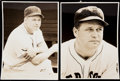Baseball Collectibles:Photos, c. 1942 Jimmie Foxx Type I Photo Lot of 2.. ...