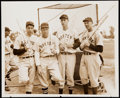 Baseball Collectibles:Photos, 1940 Spring Training Type I Photo with DiMaggio, Foxx, Williams,and Dickey.. ...