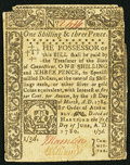 Colonial Notes:Connecticut, Connecticut June 1, 1780 1s 3d Fine-Very Fine.. ...