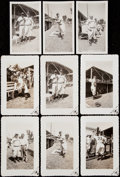 Baseball Collectibles:Photos, 1947 Honus Wagner Spring Training Type I Photo Lot of 9.. ...