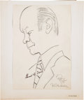 Miscellaneous Collectibles:General, 1960's Gerald Ford Signed Original Sketch by Artist Oscar Berger....