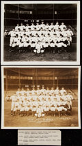 Baseball Collectibles:Photos, 1937 New York Yankees Type I Team Photo Lot of 2.. ...