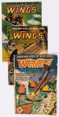 Golden Age (1938-1955):War, Wings Comics Group of 11 (Fiction House, 1944-49) Condition:Average GD.... (Total: 11 Comic Books)