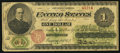 Large Size:Legal Tender Notes, Fr. 17a $1 1862 Legal Tender Very Good.. ...