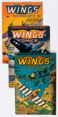 Golden Age (1938-1955):War, Wings Comics Group of 11 (Fiction House, 1944-49) Condition:Average VG.... (Total: 11 Comic Books)