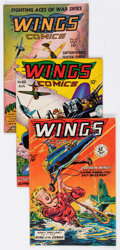 Golden Age (1938-1955):War, Wings Comics Group of 9 (Fiction House, 1945-48) Condition: AverageFN.... (Total: 9 Comic Books)