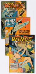 Golden Age (1938-1955):War, Wings Comics Group of 9 (Fiction House, 1945-47) Condition: AverageVG/FN.... (Total: 9 Comic Books)