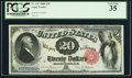 Large Size:Legal Tender Notes, Fr. 142 $20 1880 Legal Tender PCGS Very Fine 35.. ...
