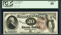 Large Size:Legal Tender Notes, Fr. 139 $20 1880 Legal Tender PCGS Extremely Fine 40.. ...
