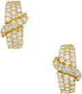 Estate Jewelry:Earrings, Diamond, Gold Earrings, Hammerman Bros. . ...