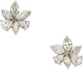 Estate Jewelry:Earrings, Diamond, Platinum Earrings. ...