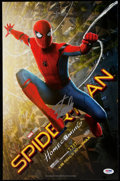 "Autographs:Photos, Stan Lee Signed ""Spider-Man Homecoming"" Poster.. ..."