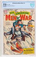 Silver Age (1956-1969):War, All-American Men of War #41 (DC, 1957) CBCS VF- 7.5 Off-white to white pages....