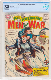 All-American Men of War #41 (DC, 1957) CBCS VF- 7.5 Off-white to white pages