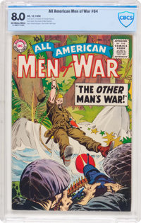 All-American Men of War #64 (DC, 1958) CBCS VF 8.0 Off-white to white pages