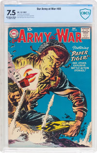 Our Army at War #65 (DC, 1957) CBCS VF- 7.5 Off-white to white pages
