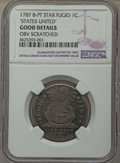 Colonials, 1787 FUGIO Fugio Cent, STATES UNITED, Eight-Pointed Stars, -- Obv Scratched -- Details NGC. Good. NGC Census: (1/33). PCGS ...