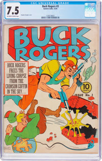 Buck Rogers #3 (Eastern Color, 1941) CGC VF- 7.5 Off-white to white pages