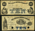 Obsoletes By State:Michigan, Eagle Harbor, MI- Central Mining Company $10 Nov. 30, 1867;. Eagle River, MI- Bay State Mining Company $10 Feb. 23, 1861... (Total: 2 notes)