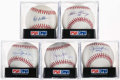 Autographs:Baseballs, Single Signed Baseball Hall of Fame Closers Lot of 5, All PSA/DNAGraded.. ...