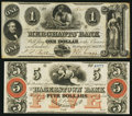 Obsoletes By State:Mixed States, Washington, DC- Merchants' Bank $1 July 1, 1852;. Hagerstown, MD- Hagerstown Bank $5 18__ Remainder. ... (Total: 2 notes)