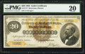 Large Size:Gold Certificates, Fr. 1177 $20 1882 Gold Certificate PMG Very Fine 20.. ...