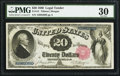 Large Size:Legal Tender Notes, Fr. 141 $20 1880 Legal Tender PMG Very Fine 30....