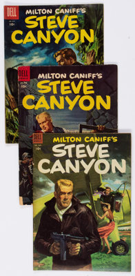 Jungle Jim/Steve Canyon Group of 24 (Dell, 1953-59) Condition: Average GD/VG.... (Total: 24 Comic Books)